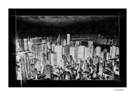 New York city line drawing
