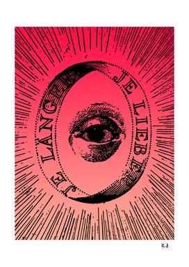 Pink Mystic Aurora Alchemic Eye  Stencil Design