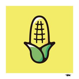 Sweet corn : Minimalistic icon series