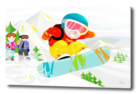 Snowboard Down The Mountain