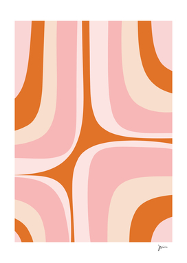 Retro Groove Pink and Orange