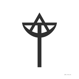 Combination of the three monotheistic religions symbo