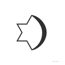 Combination of Star of David with Crescent religious