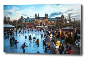 Winter in the city. (Amsterdam)