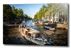 Channels & embankments of Amsterdam.
