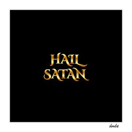 Hail Satan- Antichrist quote with occult symbol