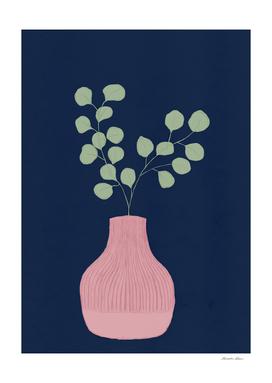 Still Life - Eucalyptus branch in a vase