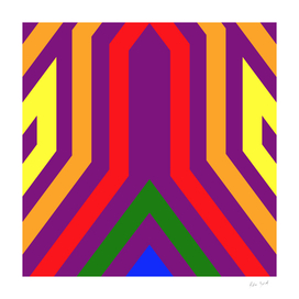 Geometric LGBT Rainbow Pattern