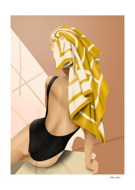 Woman with towel
