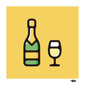 Champagne : Minimalistic icon series