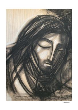 Jesus Christ at Getsemani illustration