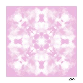 Lilac Sky Fluffy Clouds Mandala