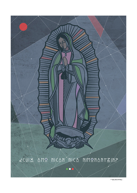Digital illustration or drawing of Our Lady of Guadalupe