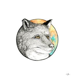 Watercolor & Ink Fox