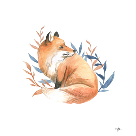 Watercolor Fox Art