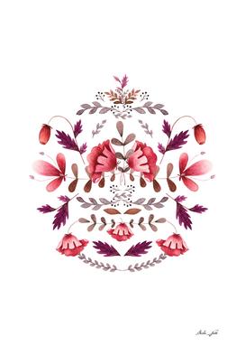 Scandinavian Folk Art Flowers