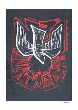 Digital illustration of the Holy Spirit symbol