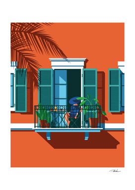 The Blue Hat Girl / Breakfast Art Print