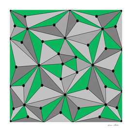 Abstract geometric pattern - green and gray.