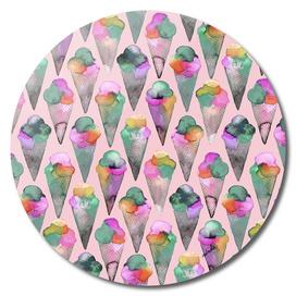 Pink icecream cones pattern