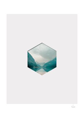 Hexagon Mountain Landscape