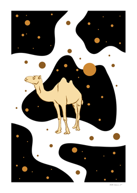 Camel in a Surreal Desert at Night