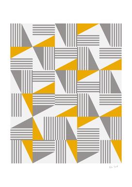 MID CENTURY MODERN Geometric Dynamic Triangle Pattern