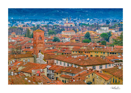 Lucca Historic Center Aerial View