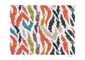 Colorful tiger pattern