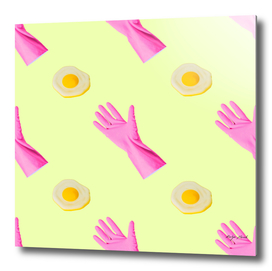 Rubber gloves and scrambled eggs