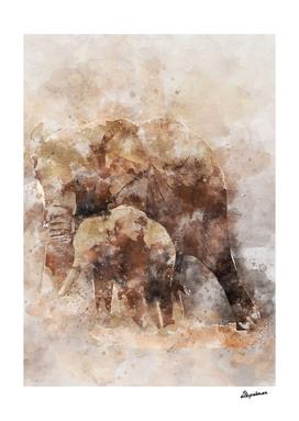 African Elephant Art