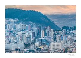 Aerial Cityscape Quito Ecuador