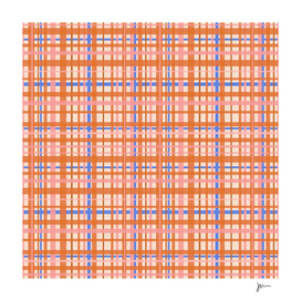 Cheerful Retro Plaid in Orange, Blue, Pink, and Cream