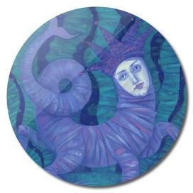 Melusina, Surreal Fantasy, Magical Creature, Mermaid Art