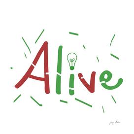 alive color text