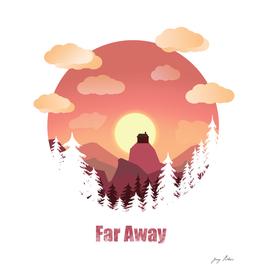 mountain far away