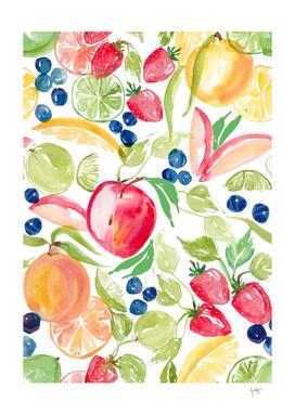 Fruity watercolor