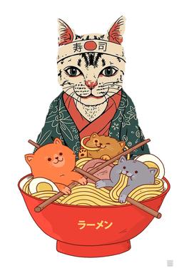 Neko ramen and cats