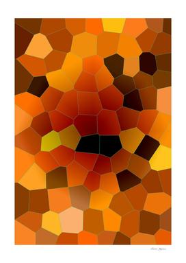 Molten Amber Lava Mosaic pattern
