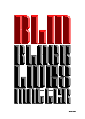 BLACK LIVES MATTER - Relief RED