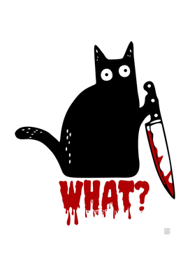 Black cat and knife what