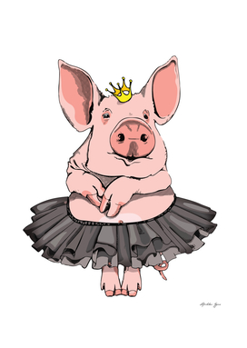 Cute Pig Ballerina Tutu