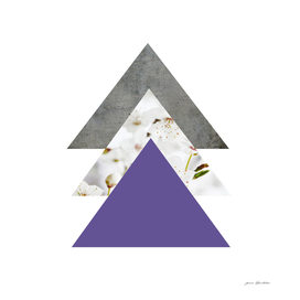 Ultra violet blossom arrows collage