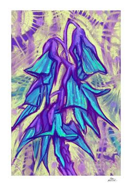 Australian Birdflower, Abstract Floral, Purple Version