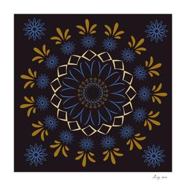 Arabian flowers mandala