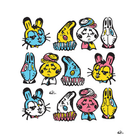 stamps rabbits