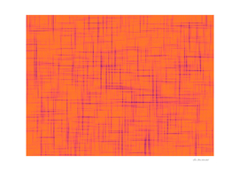 geometric square line pattern abstract background in orange
