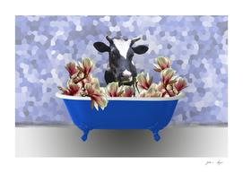 badewanne_blue_magnolia_cow_bw