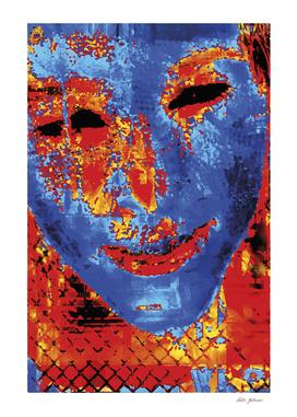 O rosto azul / Blue Face
