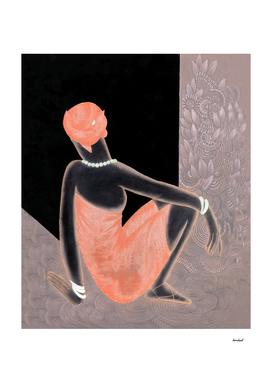 Sitting African Lady